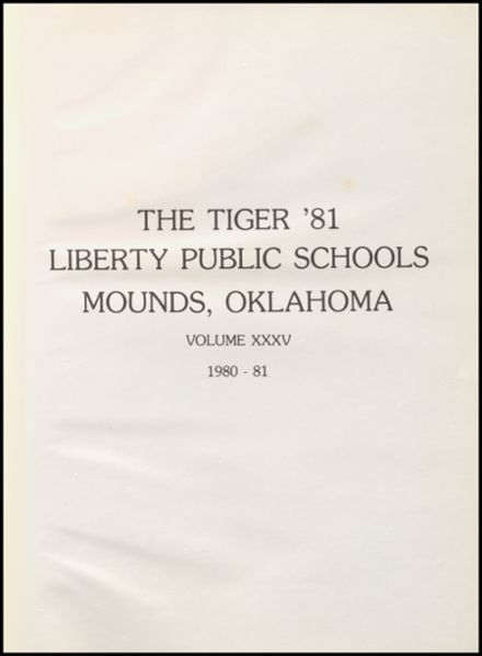 1981 Liberty High School Yearbook Page 5