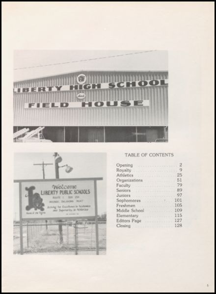 1981 Liberty High School Yearbook Page 9