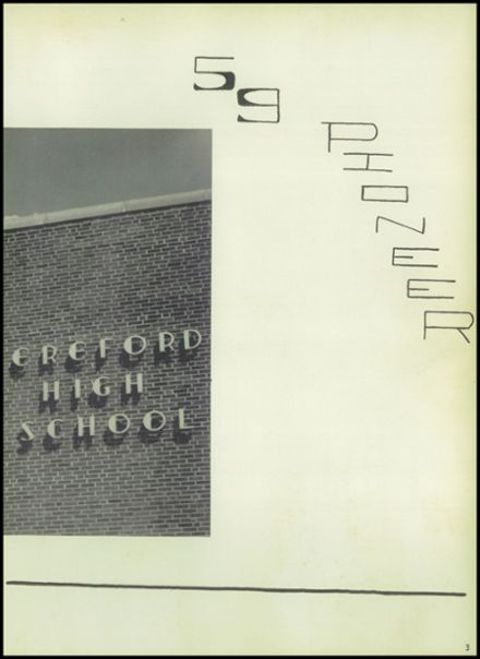 1959 Hereford High School Yearbook Page 7