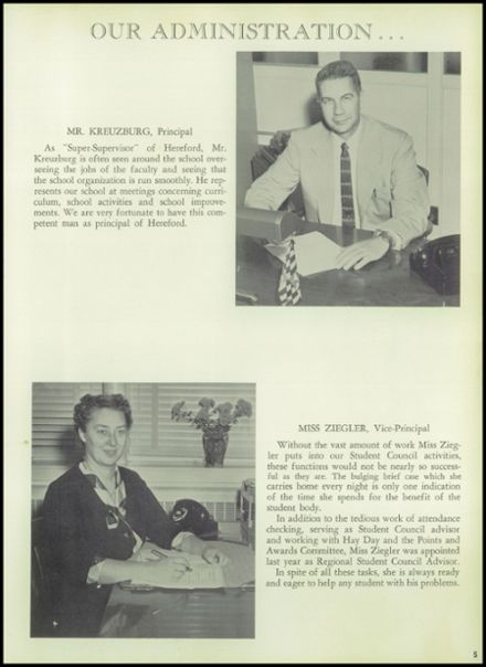 1959 Hereford High School Yearbook Page 9