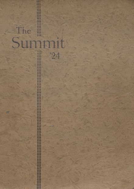 1924 Chester High School Yearbook Cover