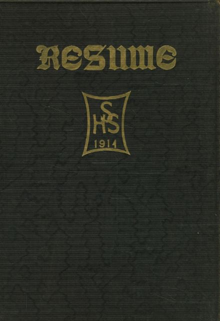 1914 Springfield High School Yearbook Cover
