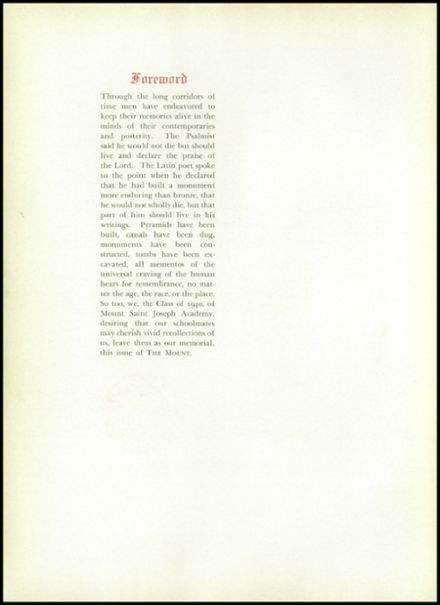 1940 Mt. St. Joseph Academy Yearbook Page 6