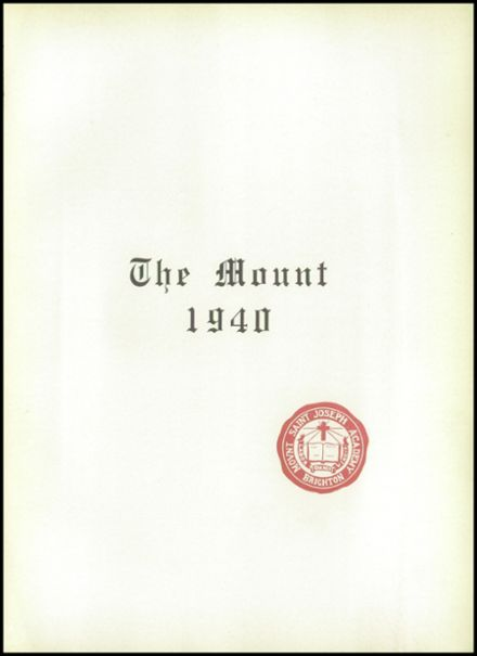 1940 Mt. St. Joseph Academy Yearbook Page 7