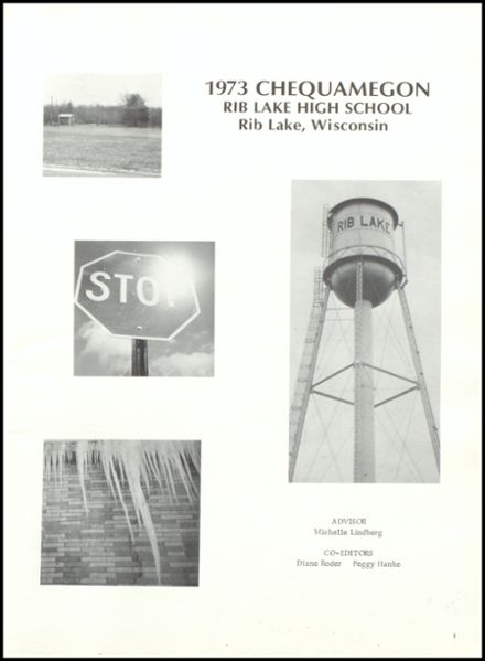 1973 Rib Lake High School Yearbook Page 5