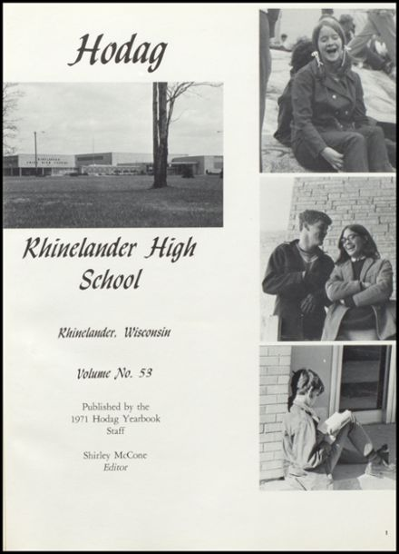 1971 Rhinelander High School Yearbook Page 5