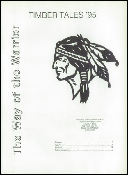 1995 Southern Trinity High School Yearbook Page 5