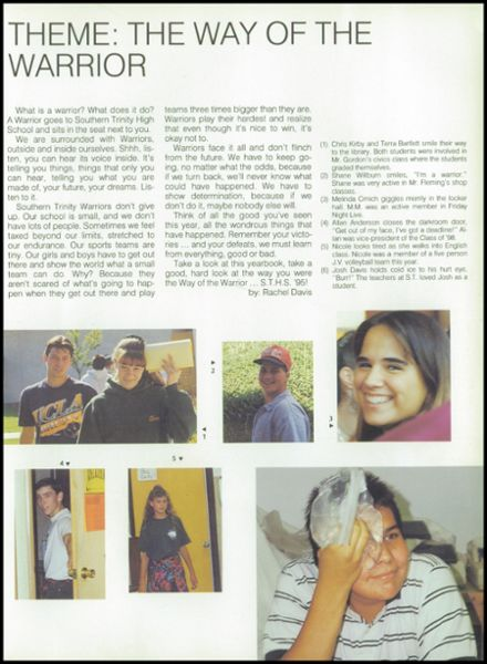 1995 Southern Trinity High School Yearbook Page 7