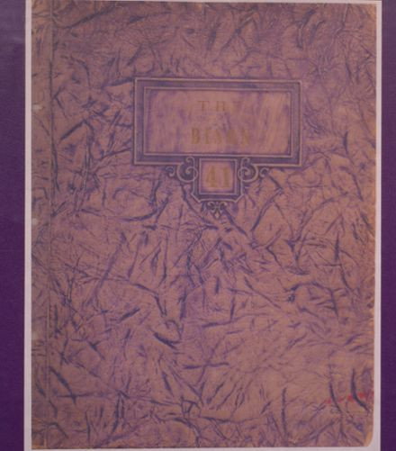 1941 Cross Plains High School Yearbook Cover