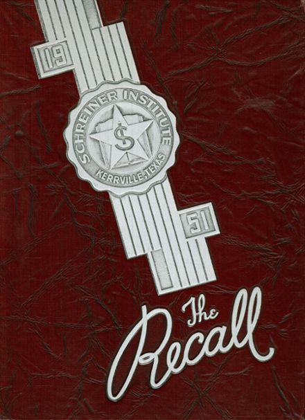 1951 Schreiner Institute Yearbook Cover