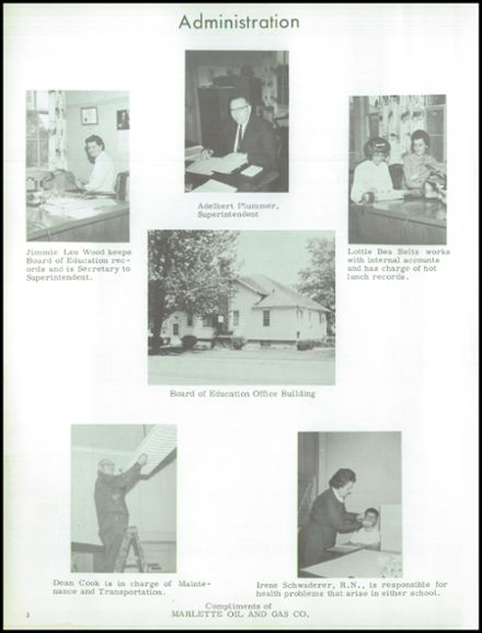 1964 Marlette High School Yearbook Page 6