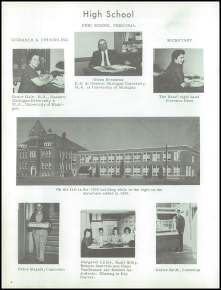 1964 Marlette High School Yearbook Page 8