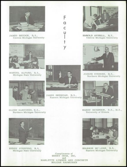 1964 Marlette High School Yearbook Page 9