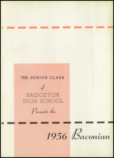 1956 Bridgeton High School Yearbook Page 7