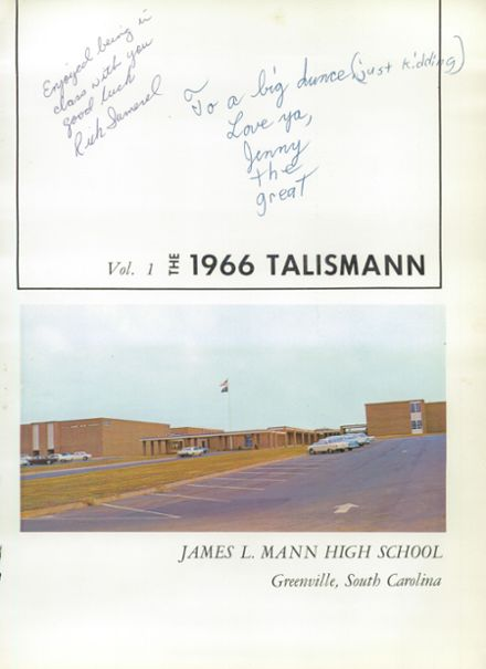 1966 Mann High School Yearbook Page 5