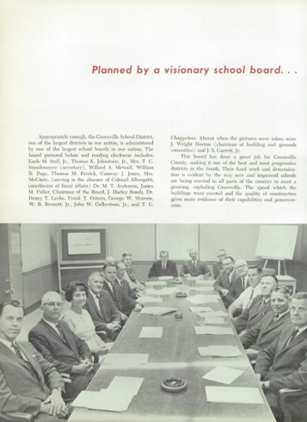 1966 Mann High School Yearbook Page 8