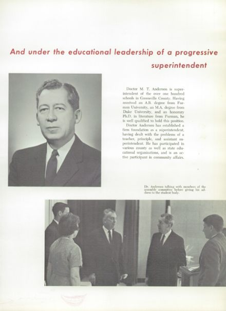 1966 Mann High School Yearbook Page 9