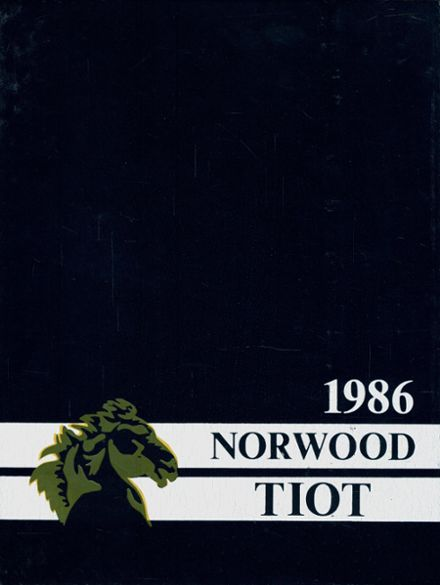 1986 Norwood High School Yearbook Cover