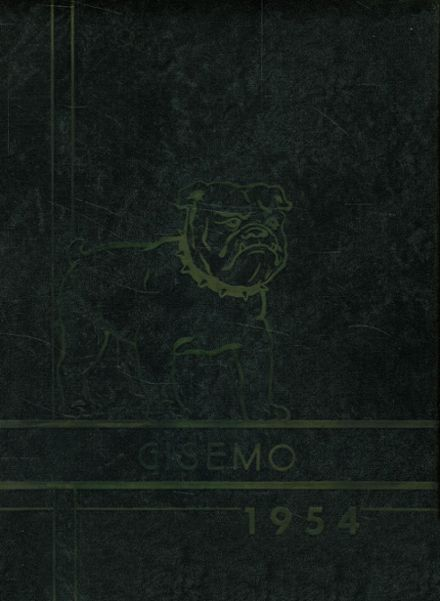 1954 Gideon High School Yearbook Cover