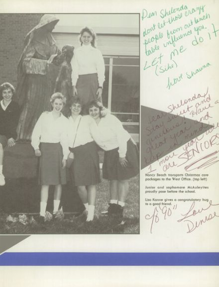 1988 Mother McAuley Liberal Arts High School Yearbook Page 3