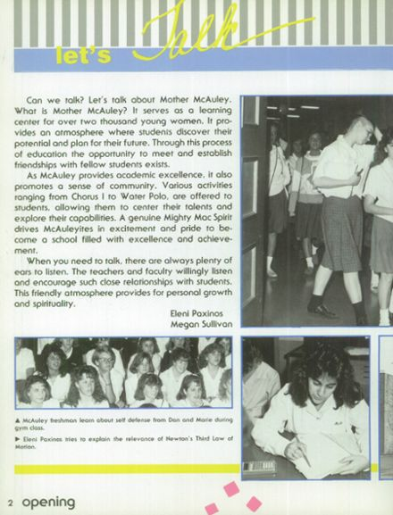 1988 Mother McAuley Liberal Arts High School Yearbook Page 6
