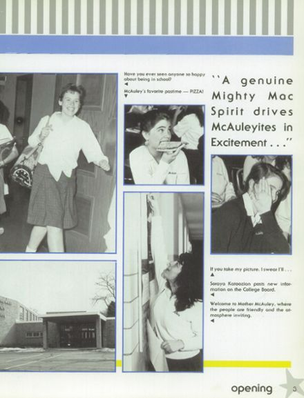 1988 Mother McAuley Liberal Arts High School Yearbook Page 7