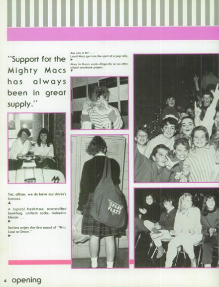 1988 Mother McAuley Liberal Arts High School Yearbook Page 8