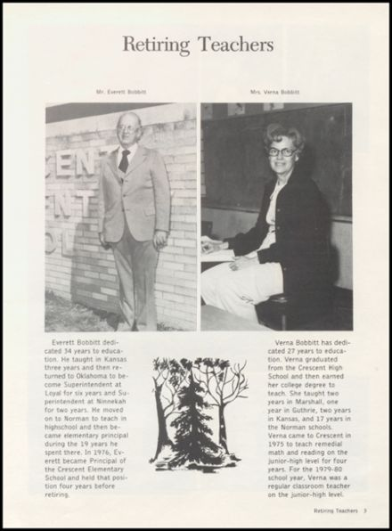 1980 Crescent High School Yearbook Page 7