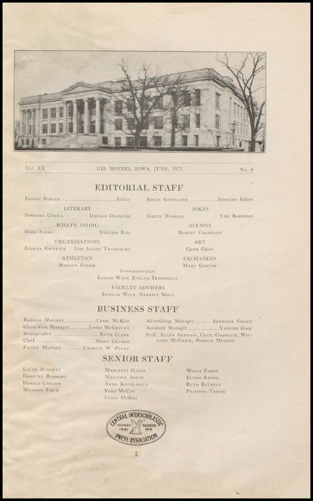 1925 East High School Yearbook Page 7