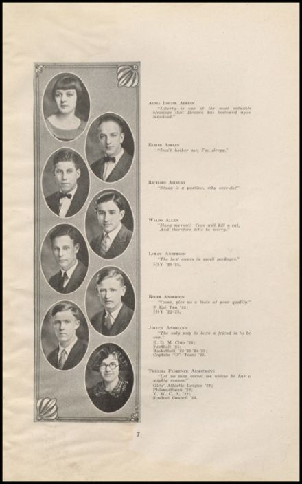 1925 East High School Yearbook Page 9