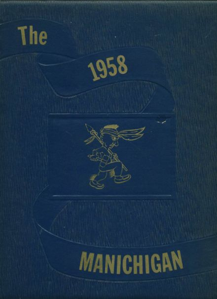 1958 Manistee High School Yearbook Cover