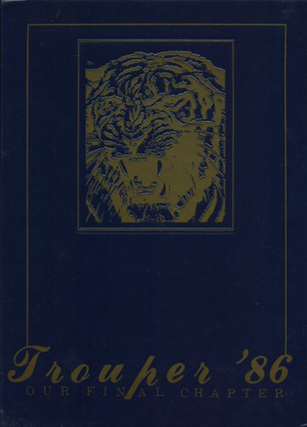 1986 Troup County Comprehensive High School Yearbook Cover