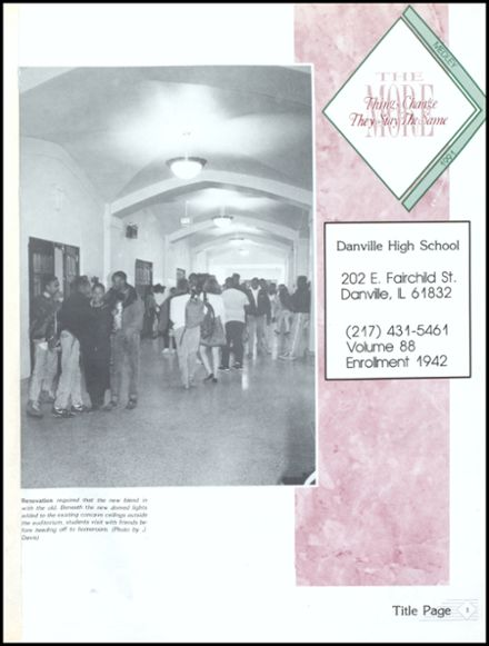 1991 Danville High School Yearbook Page 5