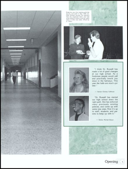 1991 Danville High School Yearbook Page 9