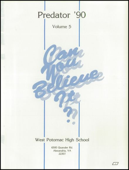 1990 West Potomac High School Yearbook Page 5