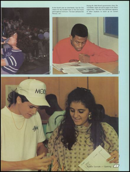1990 West Potomac High School Yearbook Page 9