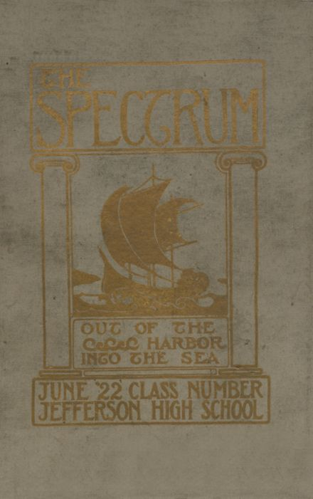 1922 Jefferson High School Yearbook Cover
