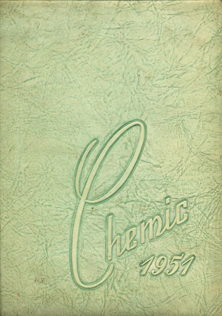 1951 Midland High School Yearbook Cover