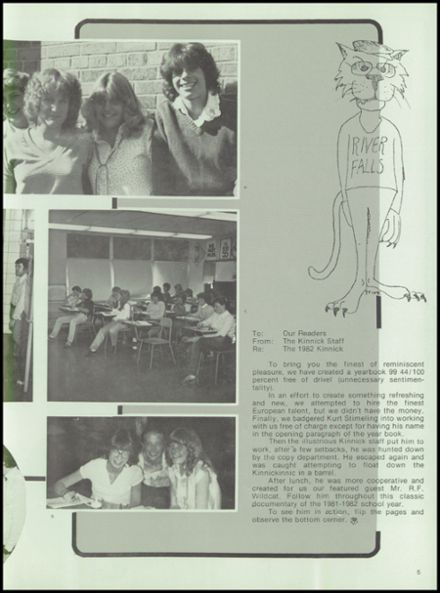 1982 River Falls High School Yearbook Page 9