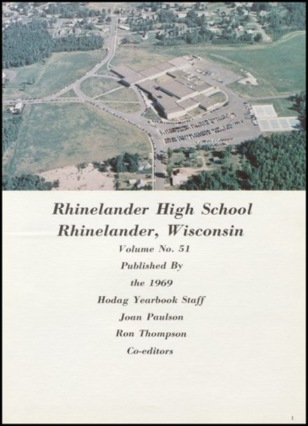 1969 Rhinelander High School Yearbook Page 5