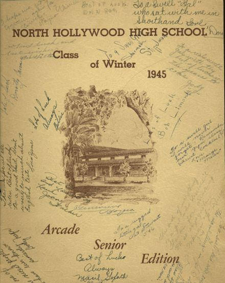 1945 North Hollywood High School Yearbook Cover