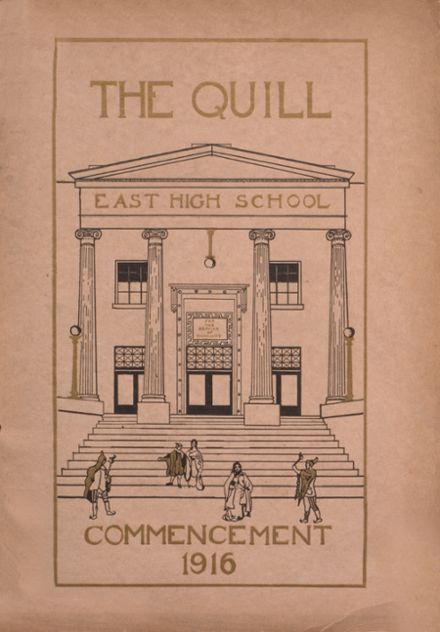 1916 East High School Yearbook Cover
