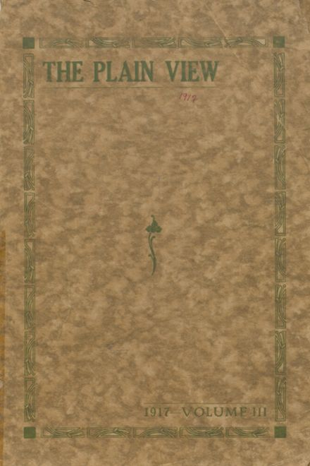 1917 Plainview High School Yearbook Cover