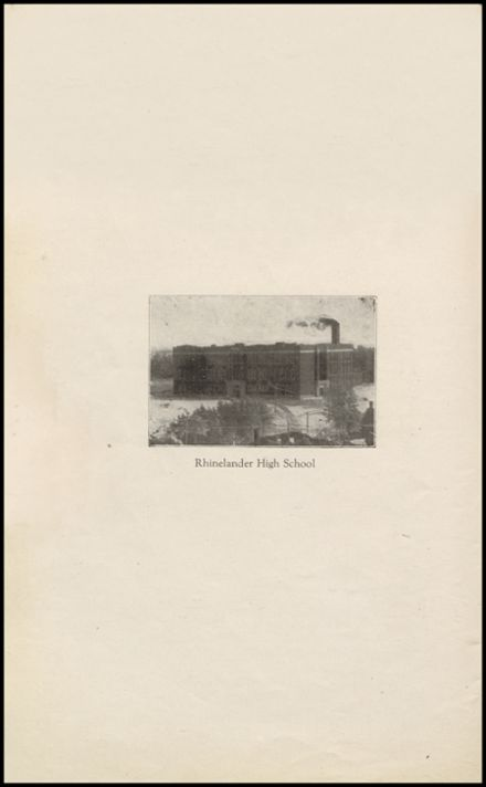 1921 Rhinelander High School Yearbook Page 6