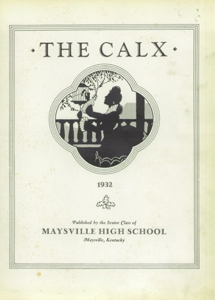 1932 Maysville High School Yearbook Page 7