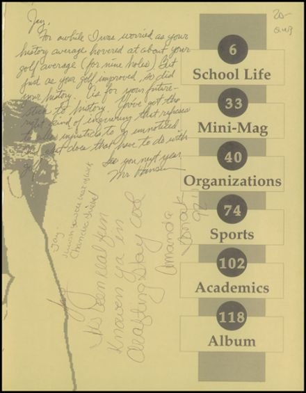 1992 South Side High School Yearbook Page 3