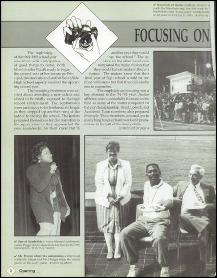 1992 South Side High School Yearbook Page 6