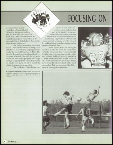 1992 South Side High School Yearbook Page 8