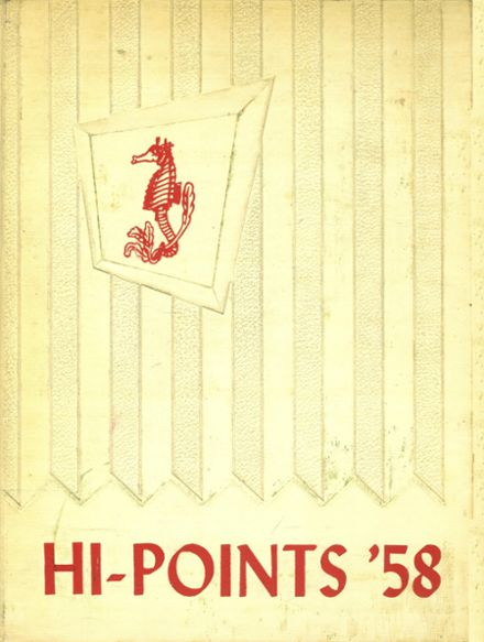 1958 Sparrows Point High School Yearbook Cover
