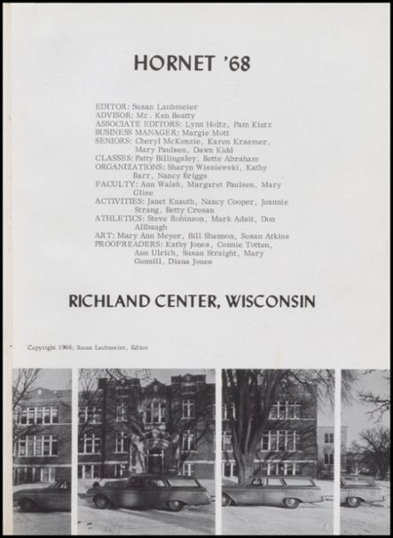 1968 Richland Center High School Yearbook Page 5